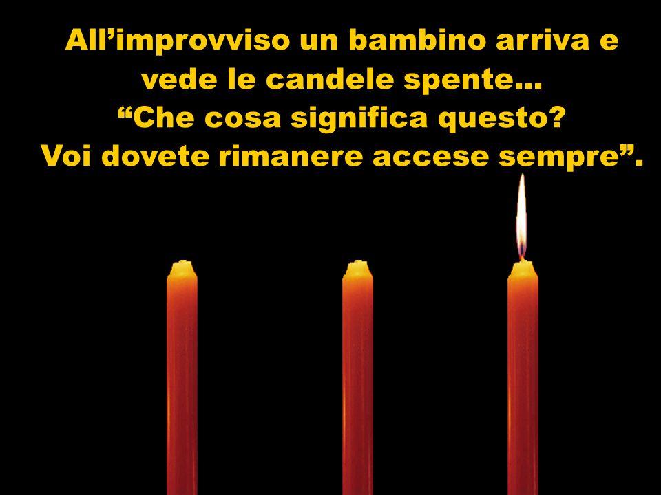Tristemente e a voce bassa la seconda candela si manifesta: Io sono lAMORE! Non ho più la forza di bruciare. La gente mi lascia da parte, non mi consi