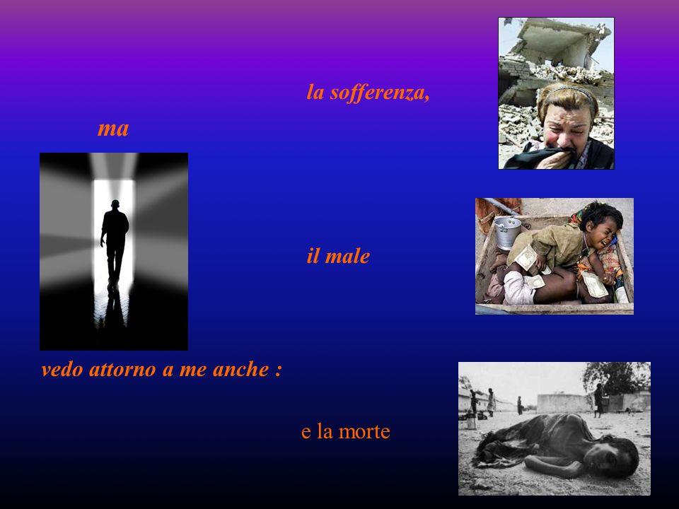 ma vedo attorno a me anche : la sofferenza, il male e la morte