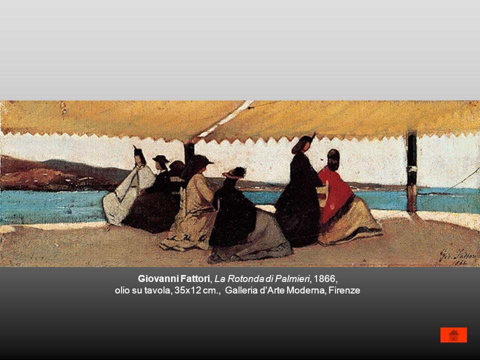 Giovanni Fattori, La Rotonda di Palmieri, 1866, olio su tavola, 35x12 cm., Galleria d'Arte Moderna, Firenze