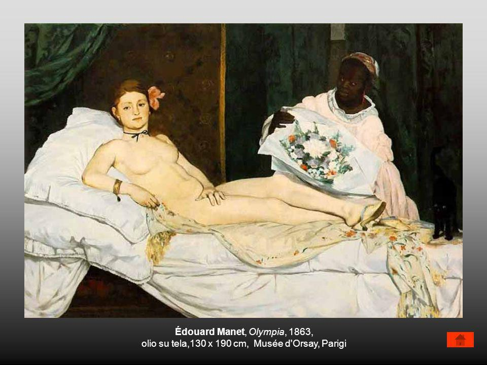 Édouard Manet, Olympia, 1863, olio su tela,130 x 190 cm, Musée d'Orsay, Parigi