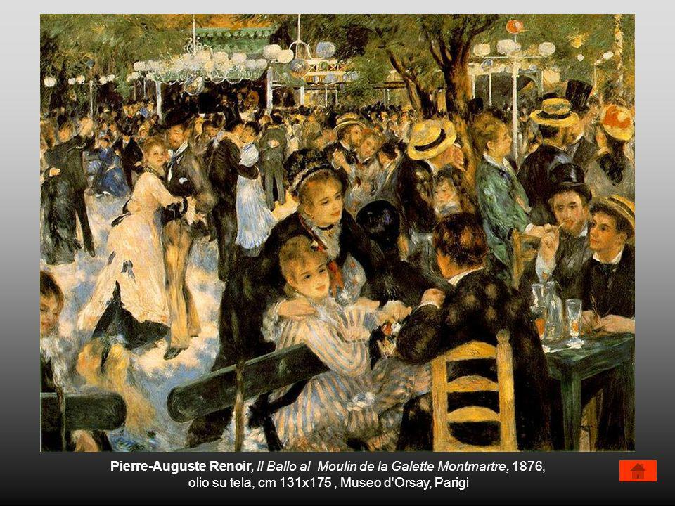Pierre-Auguste Renoir, Il Ballo al Moulin de la Galette Montmartre, 1876, olio su tela, cm 131x175, Museo d'Orsay, Parigi