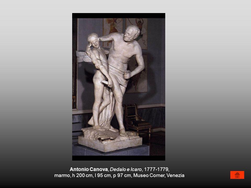 Antonio Canova, Dedalo e Icaro, 1777-1779, marmo, h 200 cm, l 95 cm, p 97 cm, Museo Corner, Venezia