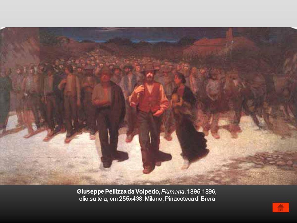 Giuseppe Pellizza da Volpedo, Fiumana, 1895-1896, olio su tela, cm 255x438, Milano, Pinacoteca di Brera
