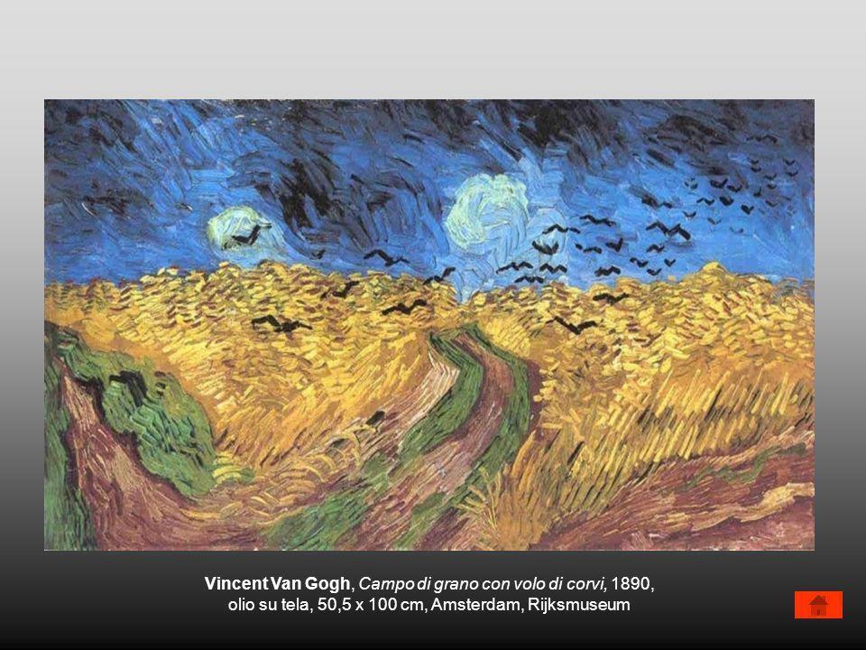 Vincent Van Gogh, Campo di grano con volo di corvi, 1890, olio su tela, 50,5 x 100 cm, Amsterdam, Rijksmuseum
