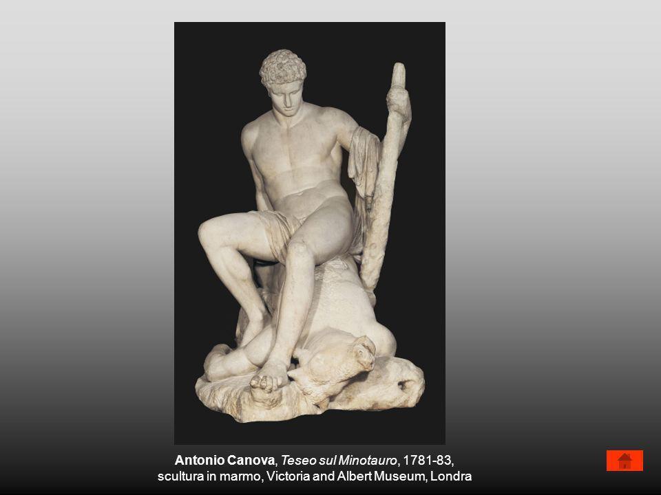 Antonio Canova, Amore e Psiche, 1787-93, gruppo scultoreo, Louvre, Parigi