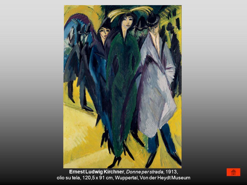 Ernest Ludwig Kirchner, Donne per strada, 1913, olio su tela, 120,5 x 91 cm, Wuppertal, Von der Heydt Museum