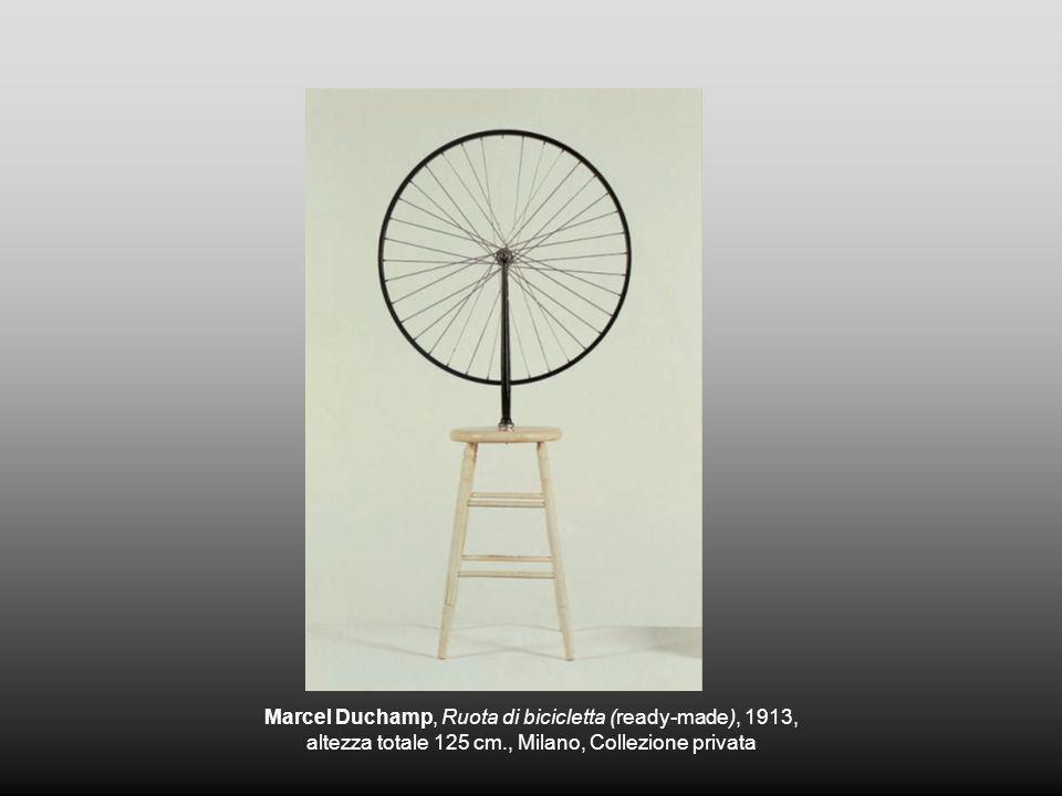 Marcel Duchamp, Ruota di bicicletta (ready-made), 1913, altezza totale 125 cm., Milano, Collezione privata