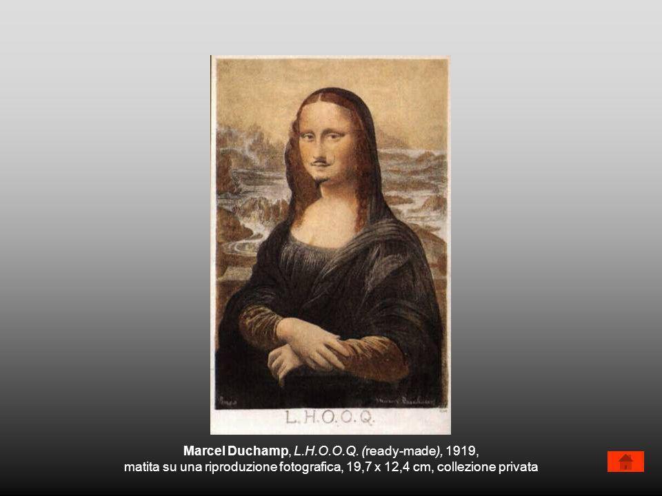 Marcel Duchamp, L.H.O.O.Q. (ready-made), 1919, matita su una riproduzione fotografica, 19,7 x 12,4 cm, collezione privata