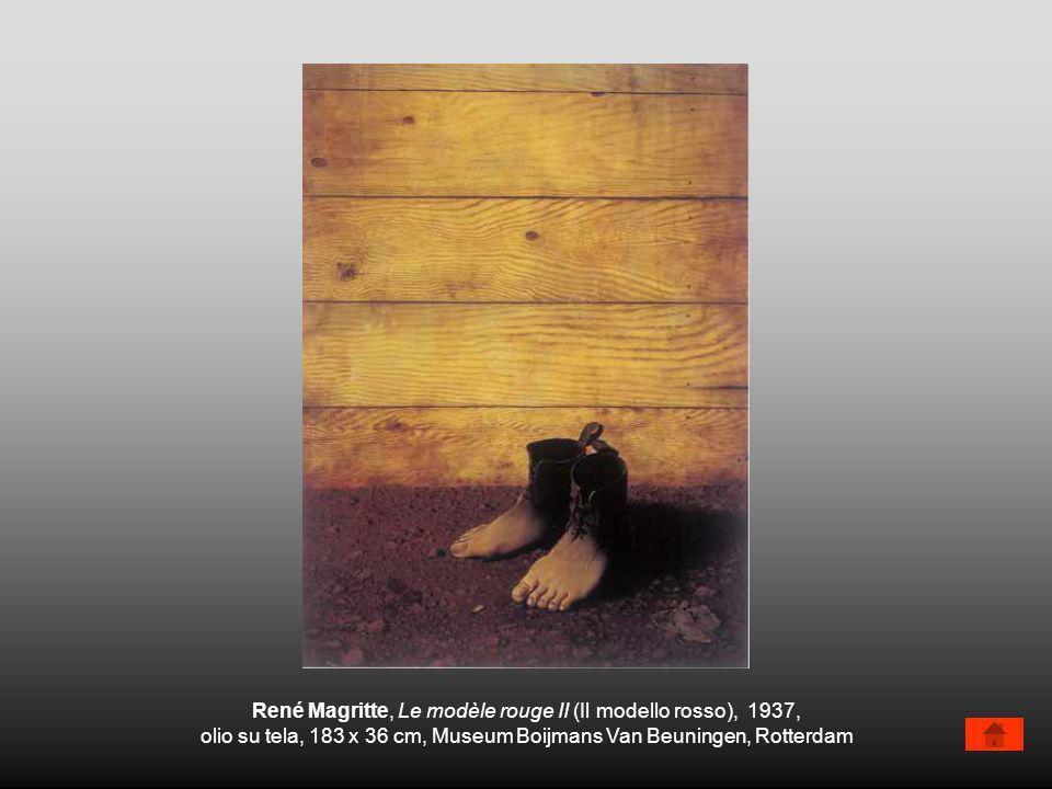 René Magritte, Le modèle rouge II (Il modello rosso), 1937, olio su tela, 183 x 36 cm, Museum Boijmans Van Beuningen, Rotterdam