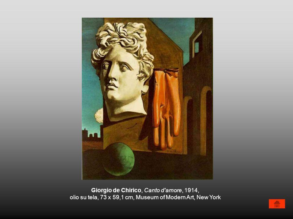 Giorgio de Chirico, Canto d'amore, 1914, olio su tela, 73 x 59,1 cm, Museum of Modern Art, New York