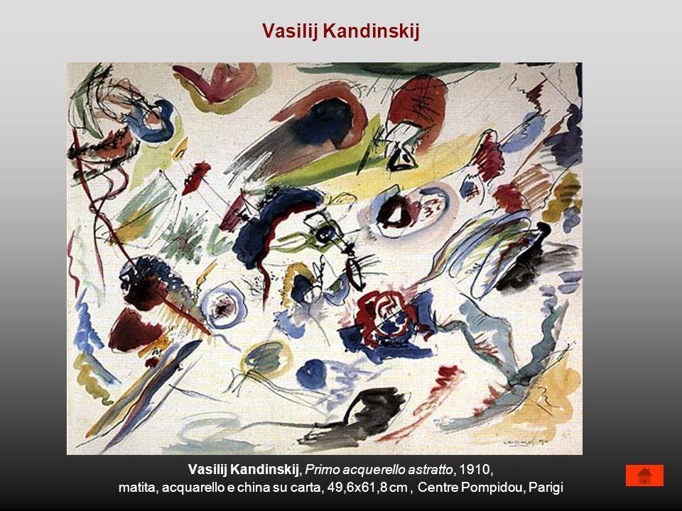 Vasilij Kandinskij, Primo acquerello astratto, 1910, matita, acquarello e china su carta, 49,6x61,8 cm, Centre Pompidou, Parigi Vasilij Kandinskij