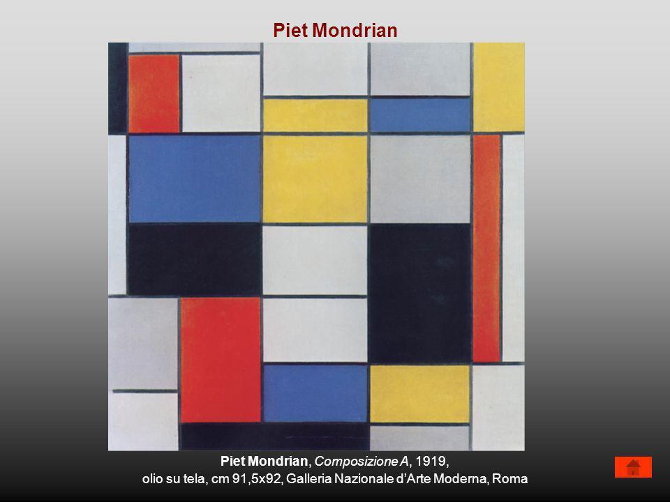 Piet Mondrian, Composizione A, 1919, olio su tela, cm 91,5x92, Galleria Nazionale dArte Moderna, Roma Piet Mondrian