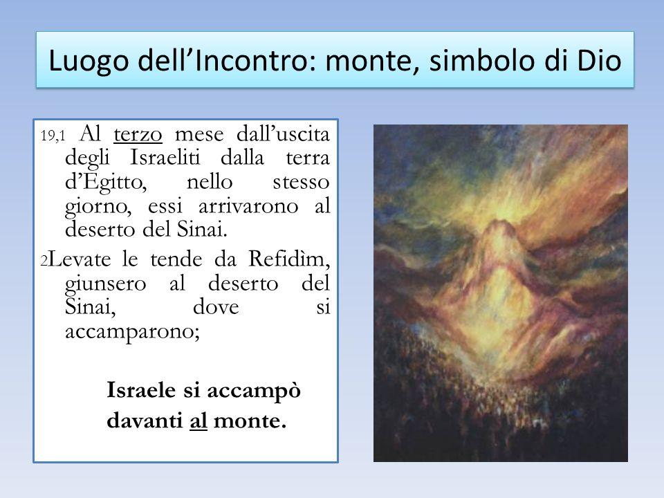 19,1 Al terzo mese dalluscita degli Israeliti dalla terra dEgitto, nello stesso giorno, essi arrivarono al deserto del Sinai.