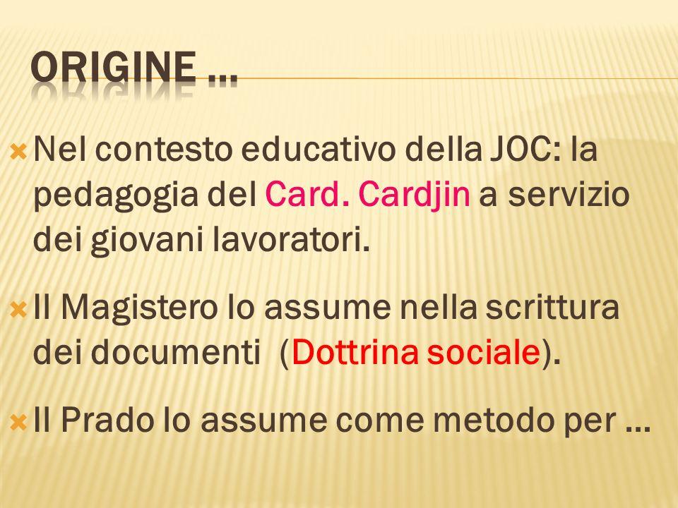 Nel contesto educativo della JOC: la pedagogia del Card. Cardjin a servizio dei giovani lavoratori. Il Magistero lo assume nella scrittura dei documen