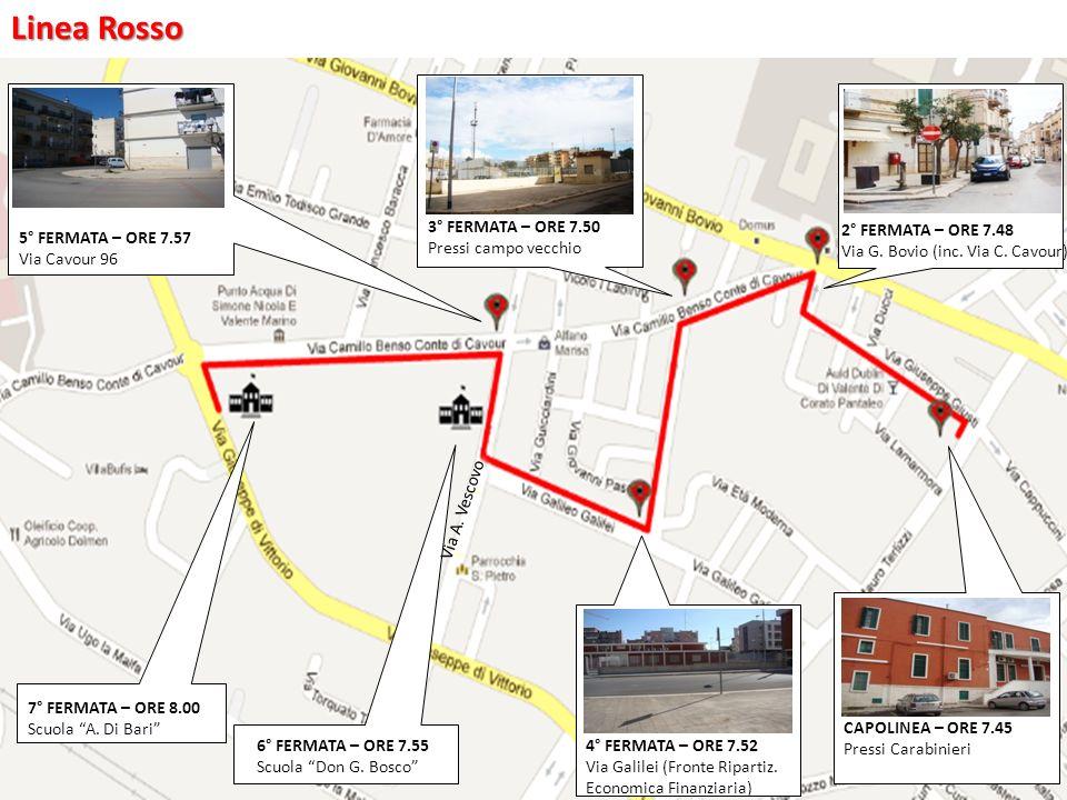 2° FERMATA – ORE 7.48 Via G. Bovio (inc. Via C.