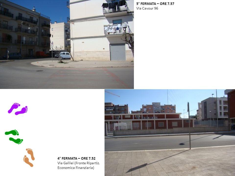 4° FERMATA – ORE 7.52 Via Galilei (Fronte Ripartiz.