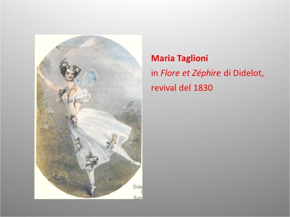 Maria Taglioni in Flore et Zéphire di Didelot, revival del 1830