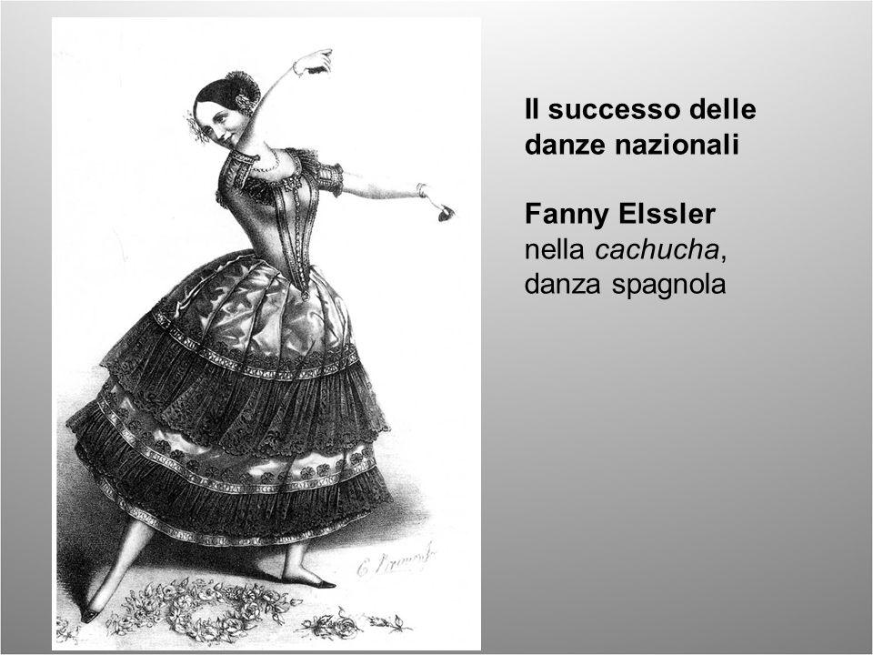 Il successo delle danze nazionali Fanny Elssler nella cachucha, danza spagnola
