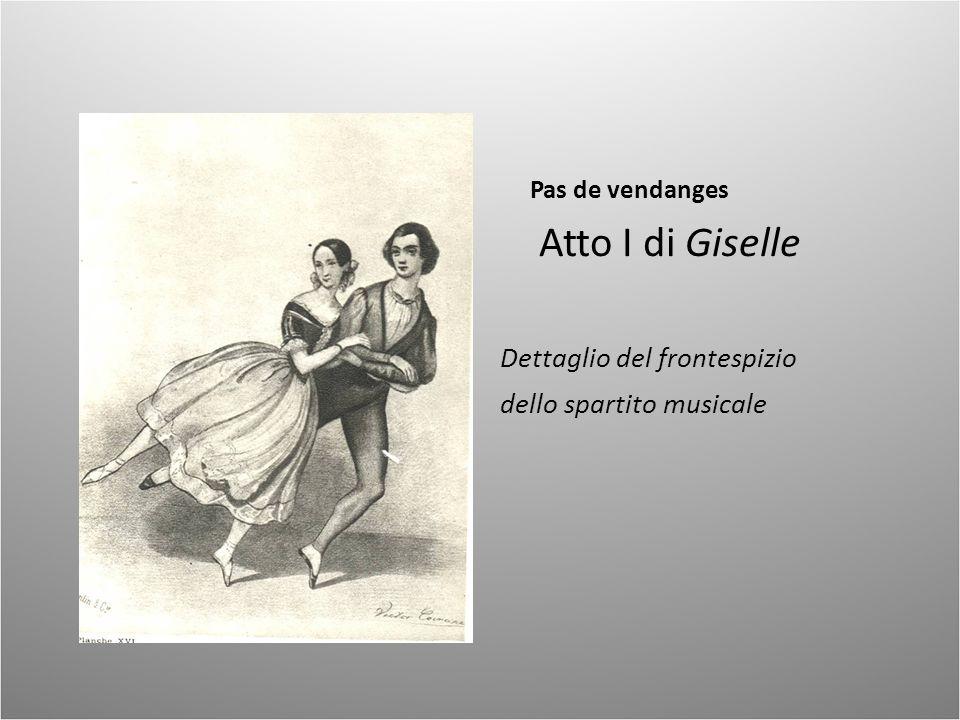 Pas de vendanges Atto I di Giselle Dettaglio del frontespizio dello spartito musicale