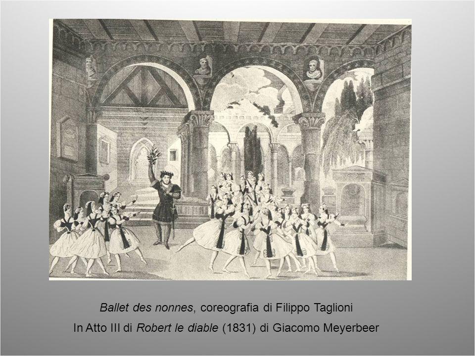 Il foyer de la danse The green room of the Opera, Inc. Londra 1835 al centro Fanny Elssler