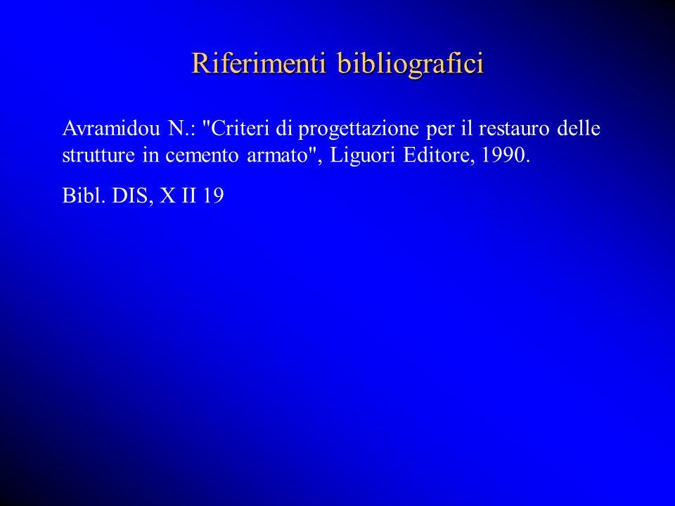 Riferimenti bibliografici Avramidou N.: