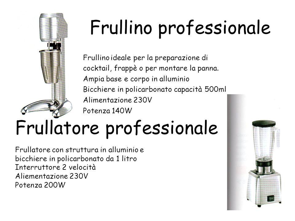Frullino professionale Frullino ideale per la preparazione di cocktail, frappè o per montare la panna. Ampia base e corpo in alluminio Bicchiere in po