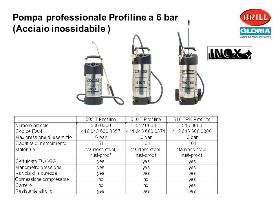 Pompa professionale Profiline a 6 bar (Acciaio inossidabile )