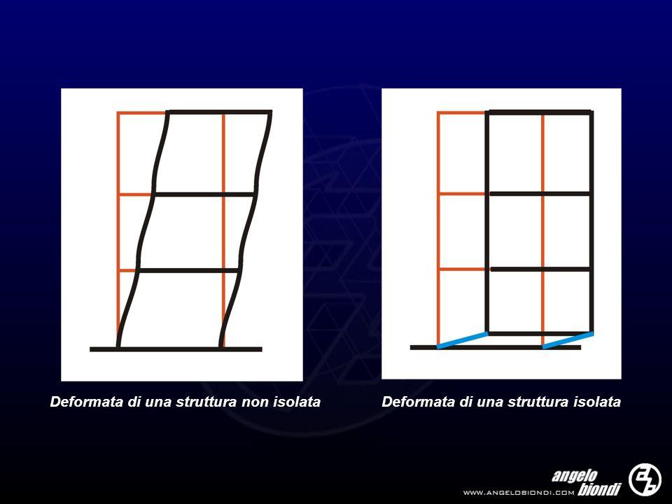 Deformata di una struttura non isolataDeformata di una struttura isolata