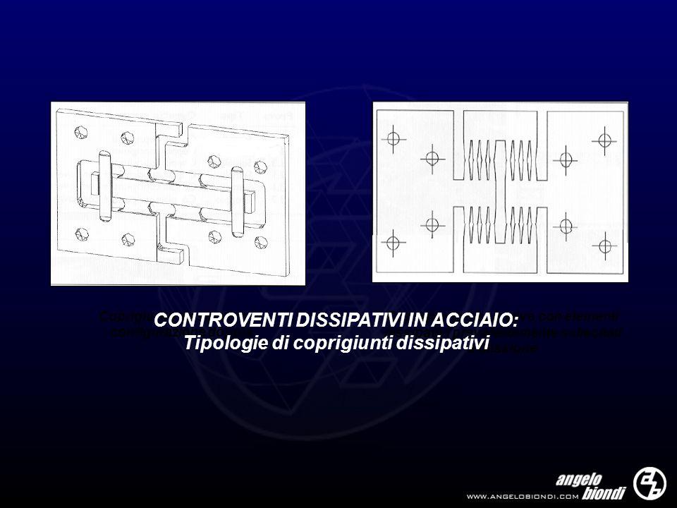 Coprigiunto dissipativo in configurazione doppia Coprigiunto dissipativo con elementi dissipativi prevalentemente sollecitati a flessione CONTROVENTI