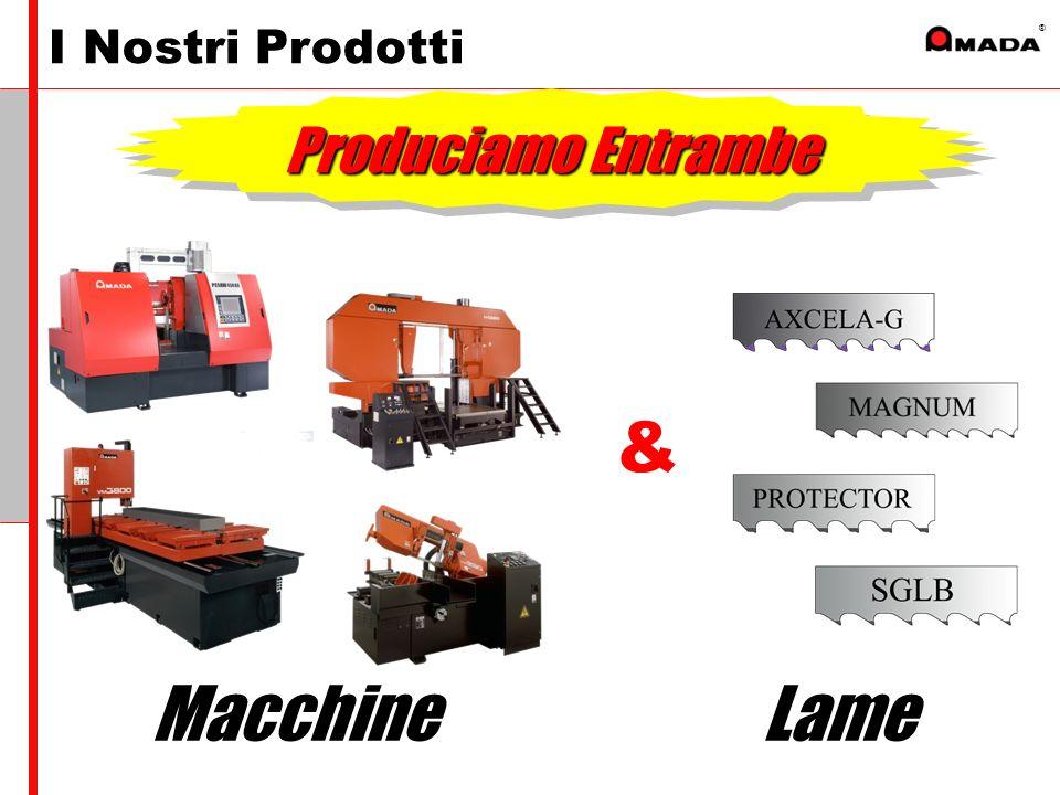 ® I Nostri Prodotti Macchine & Lame Produciamo Entrambe