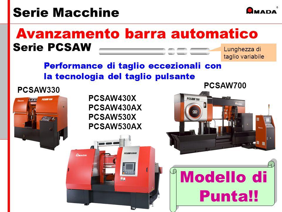 ® PCSAW330 PCSAW700 PCSAW430X PCSAW430AX PCSAW530X PCSAW530AX Performance di taglio eccezionali con la tecnologia del taglio pulsante Modello di Punta!.