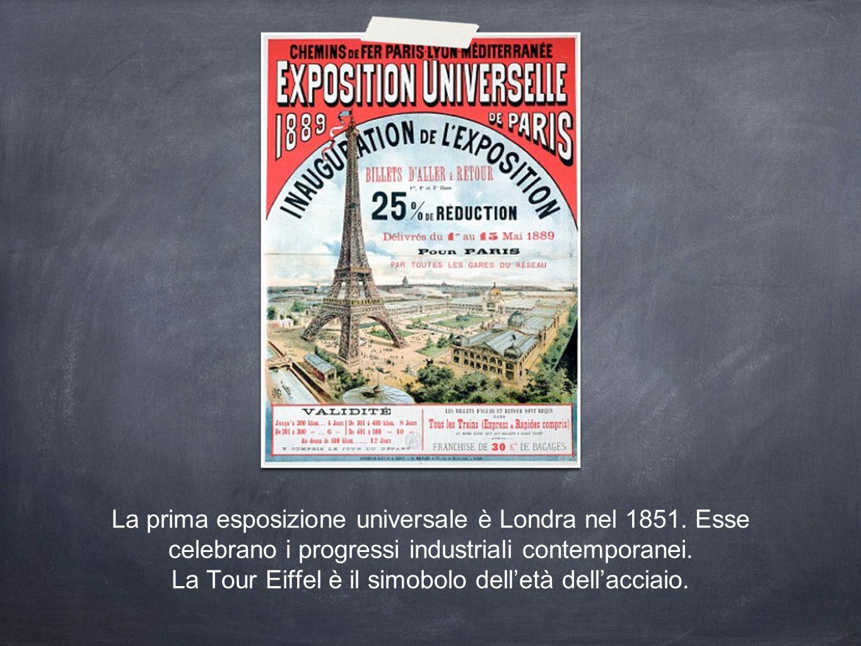 La prima esposizione universale è Londra nel 1851.