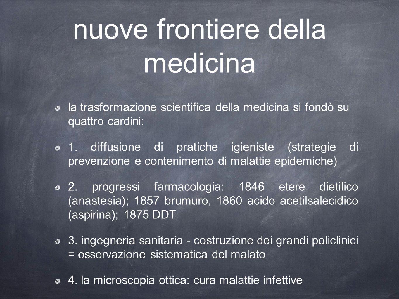nuove frontiere della medicina la trasformazione scientifica della medicina si fondò su quattro cardini: 1.