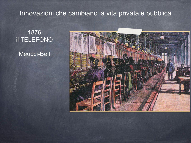 1876 il TELEFONO Meucci-Bell Innovazioni che cambiano la vita privata e pubblica