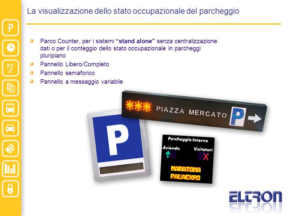 La visualizzazione dello stato occupazionale del parcheggio Parco Counter, per i sistemi stand alone senza centralizzazione dati o per il conteggio de