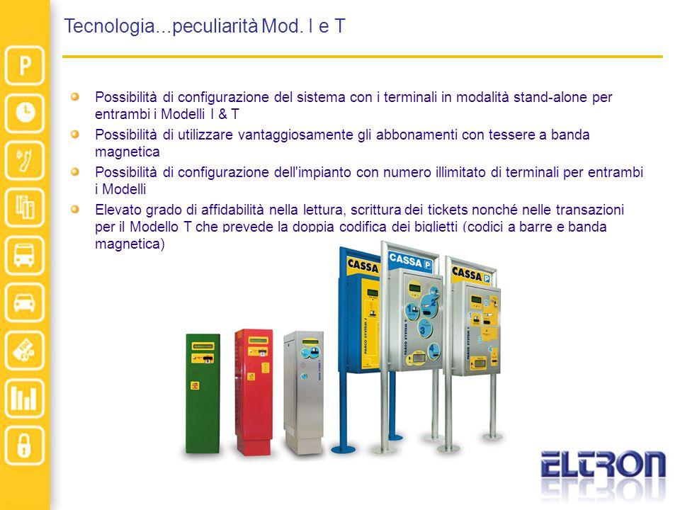 Tecnologia...peculiarità Mod. I e T Possibilità di configurazione del sistema con i terminali in modalità stand-alone per entrambi i Modelli I & T Pos