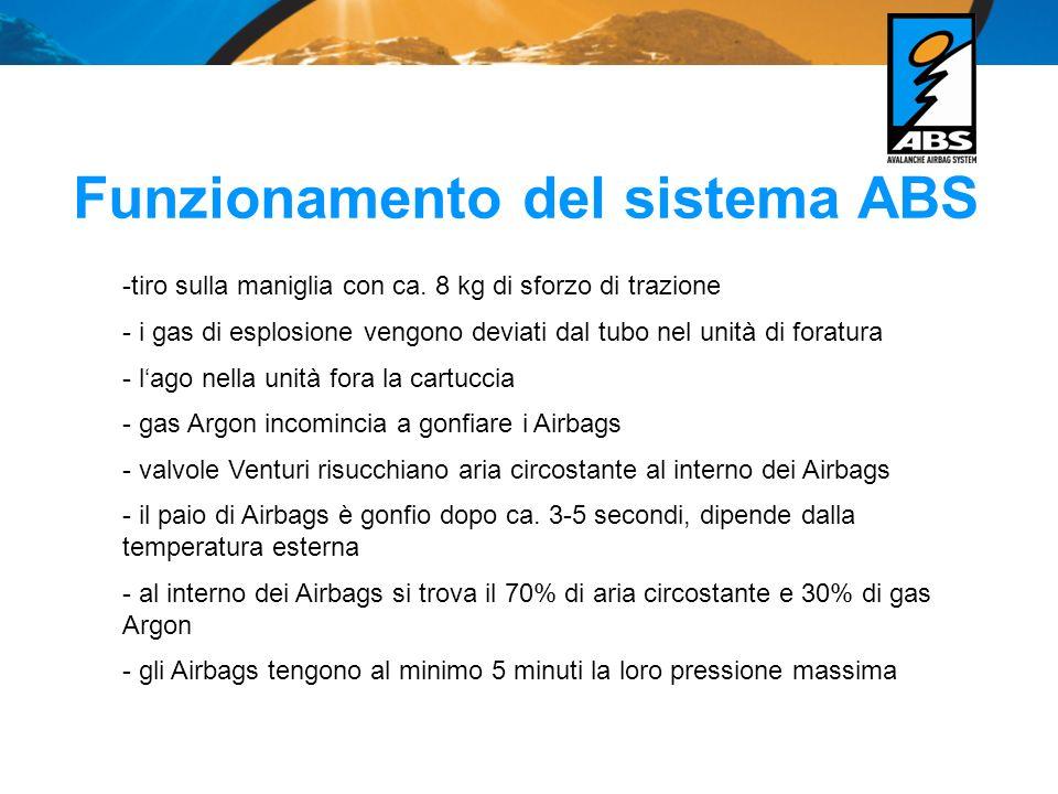 Specchietto dei modelli Sistema ABS Winter 2009 / 2010 - ABS Vario BaseUnit in S o L (lunghezza schiena S=fino 49cm L=da 46cm) -> il sistema Vario è brevettato da ABS - ABS sacche zaino Ultralight, Vario 15, Vario, 30, Vario 50 - ABS Freeride 10 litri in S o L (circonferenza bacino S= fino 118cm L= da 87cm ) - ABS Freeride 4 Liter in S und L (circonferenza bacino) - ABS Escape 15, 30 Accessori: - Set sgancio: maniglia con cartuccia in acciaio carica ca.