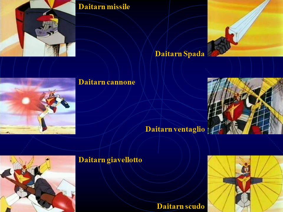 Daitarn missile Daitarn cannone Daitarn giavellotto Daitarn Spada Daitarn ventaglio Daitarn scudo