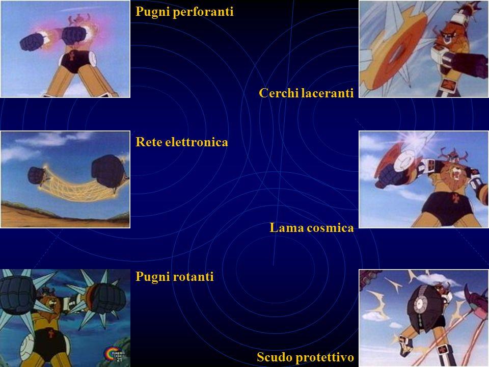 Pugni perforanti Rete elettronica Pugni rotanti Cerchi laceranti Lama cosmica Scudo protettivo
