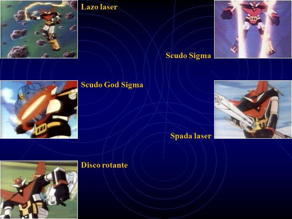 Lazo laser Scudo God Sigma Disco rotante Scudo Sigma Spada laser