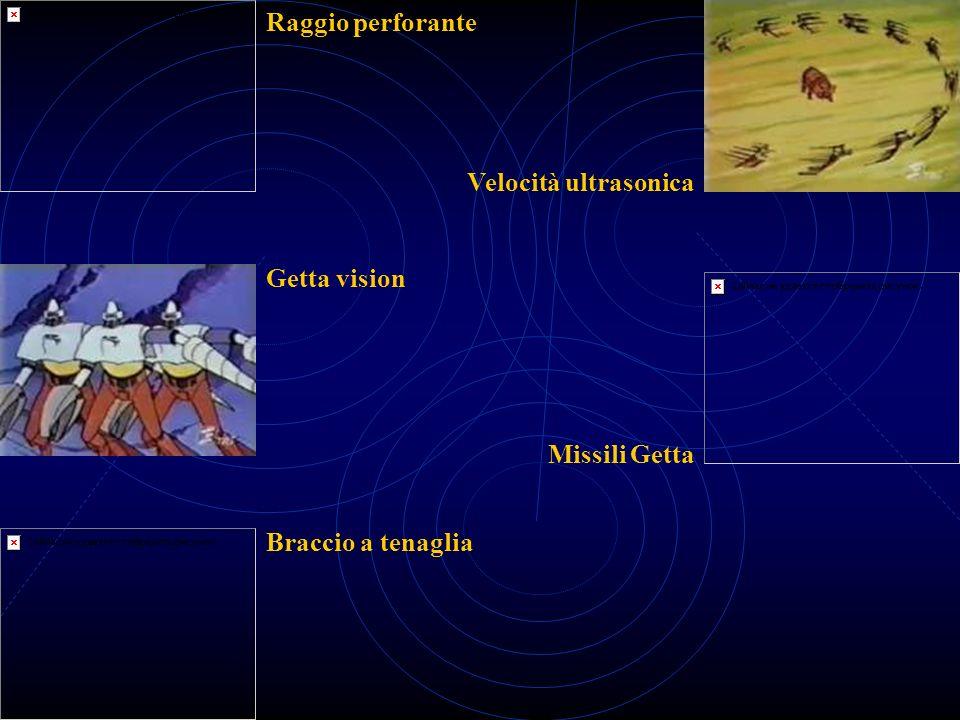 Raggio perforante Getta vision Braccio a tenaglia Missili Getta Velocità ultrasonica