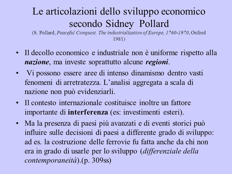 Le articolazioni dello sviluppo economico secondo Sidney Pollard (S.