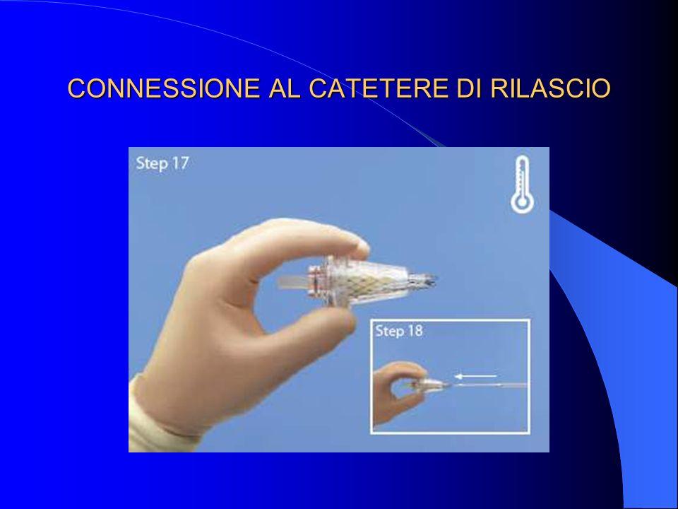 CONNESSIONE AL CATETERE DI RILASCIO