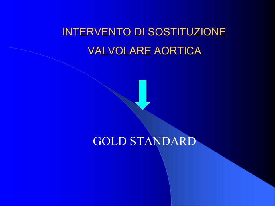 INTERVENTO DI SOSTITUZIONE VALVOLARE AORTICA GOLD STANDARD