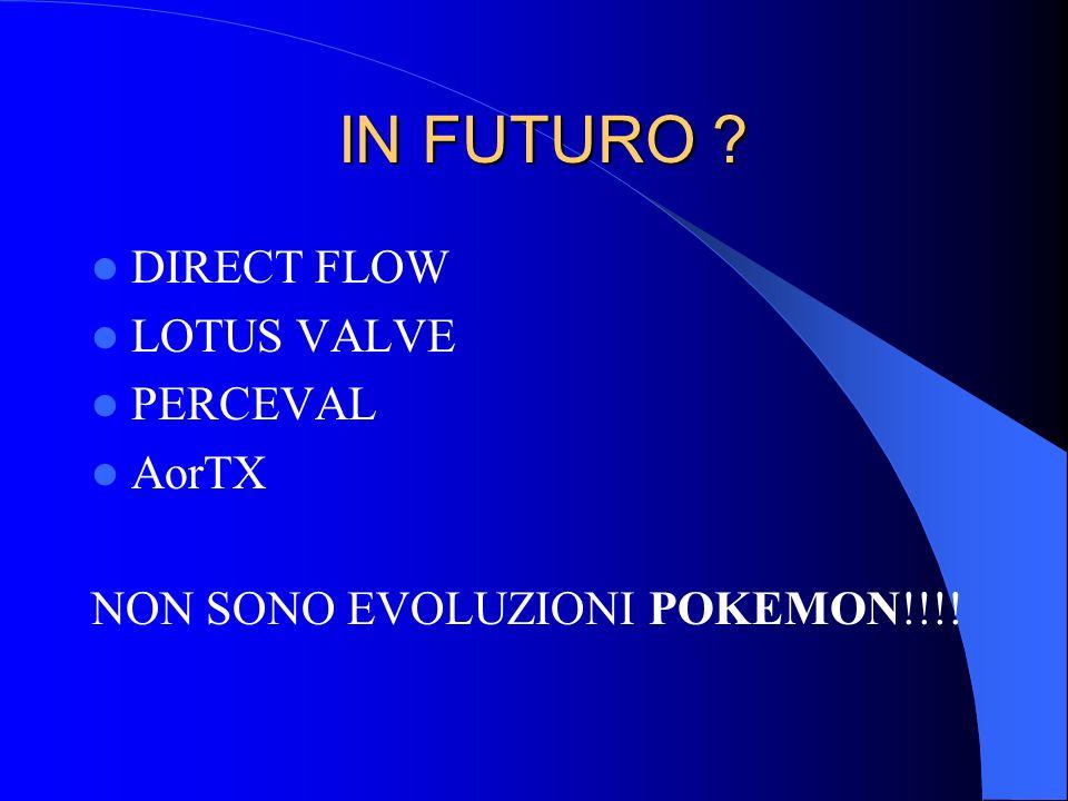 IN FUTURO ? IN FUTURO ? DIRECT FLOW LOTUS VALVE PERCEVAL AorTX NON SONO EVOLUZIONI POKEMON!!!!