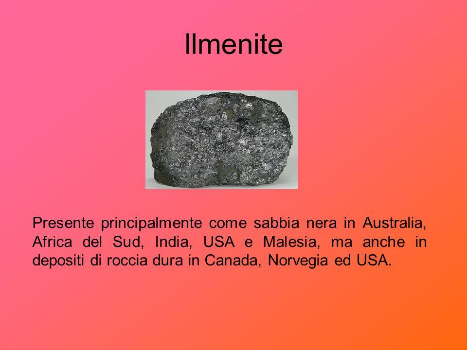 Rutilo Si trova in giacimenti di sabbia situati in Australia, Sierra Leone ed Africa del Sud.