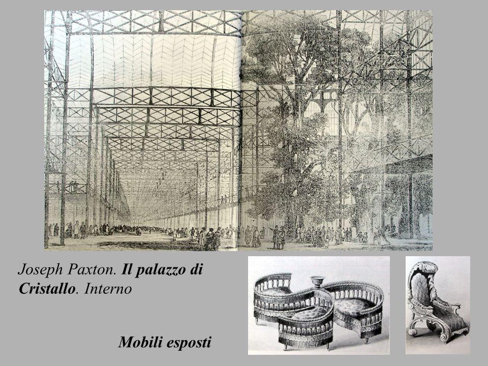Joseph Paxton. Il palazzo di Cristallo. Interno Mobili esposti