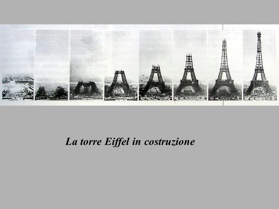 La torre Eiffel in costruzione
