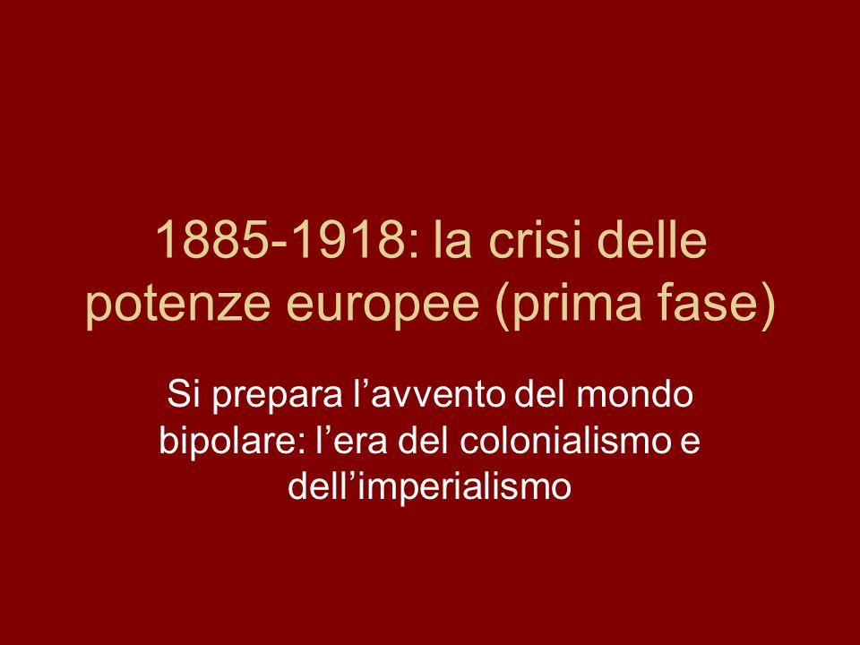 Teatri di scontro (3) Revanchismo francese verso la Germania (Alsazia-Lorena) Crisi marocchine tra Germania e Francia Guerra ispano-americana per il controllo di Cuba (1898)