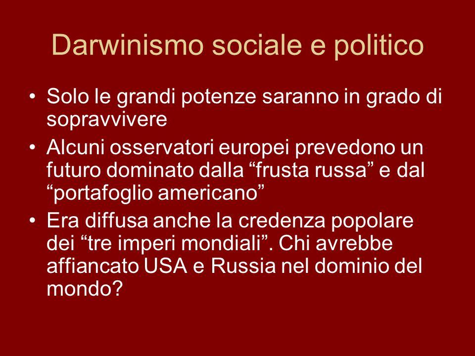 Potenza: economia e mercati Politica di potenza Le questioni europee si giocano su scala mondiale Imperialismo e colonialismo Accaparramento di materie prime e di mercati extraeuropei Industrializzazione a tappe forzate e attenzione ai problemi sociali delle masse